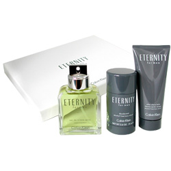 Kit Calvin Klein Eternity Men Edt100ml + A.Shave100ml + Deo75ml Masculino - �nico